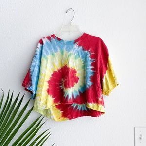 vintage radical tie dye crop top s/m